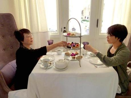 Mitsuko Yoshizumi, left, and daughter Ryoko Allen at the Courtyard Restaurant.